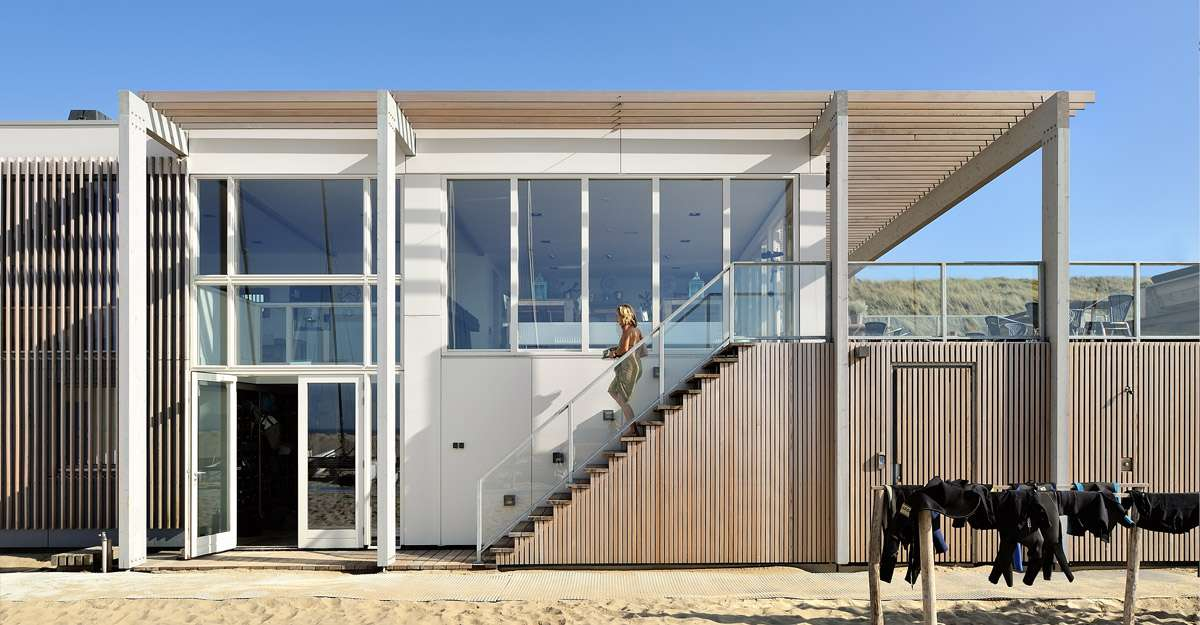 Ontwerp strandhuis door BNLA architecten