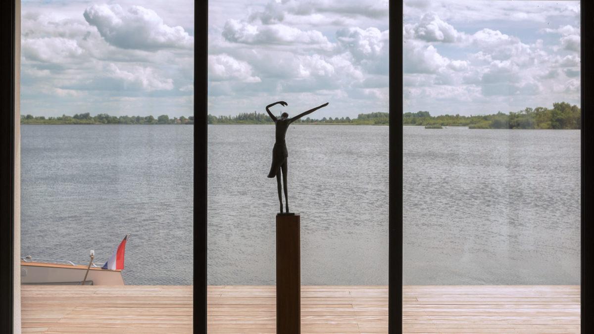 Uitzicht vanuit modern huis - BNLA Architecten