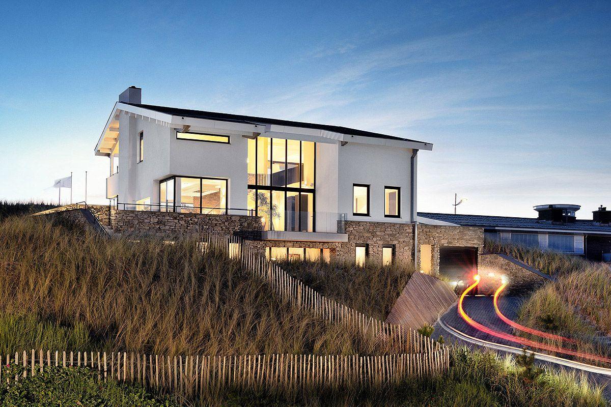 Architect villa ontwerp villa bergen door architect - Modern huis aan zee ...