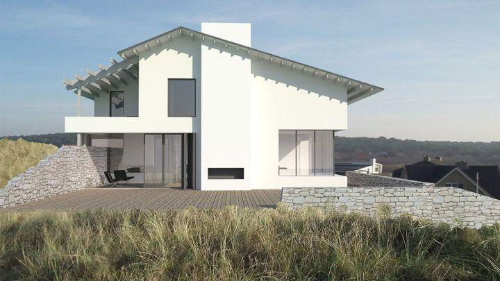 BNLA architecten heeft een besloten prijsvraag gewonnen voor een nieuw te bouwen moderne villa in het duingebied van Bergen aan Zee. De uitnodiging werd verkregen op basis van de eerder gerealiseerde luxe vakantievilla in Griekenland.