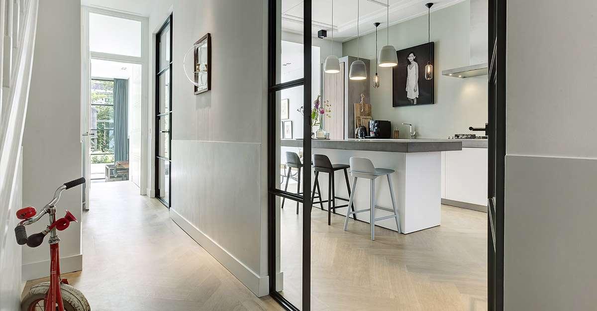 verbouwing van huis met veel daglicht