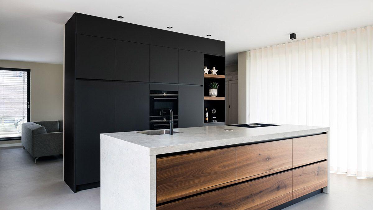 Ontwerp keuken in moderne woning door architect