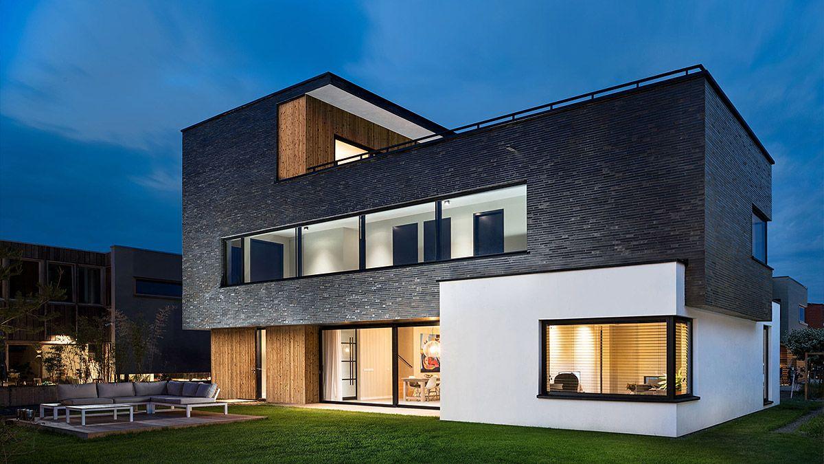 Modern ontwerp voor huis in Amsterdam door BNLA architecten