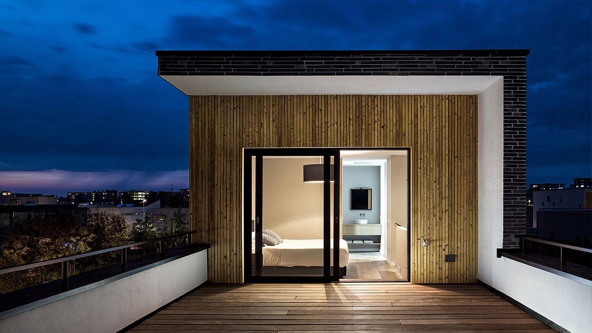Architect modern huis op zelfbouw kavel IJburg