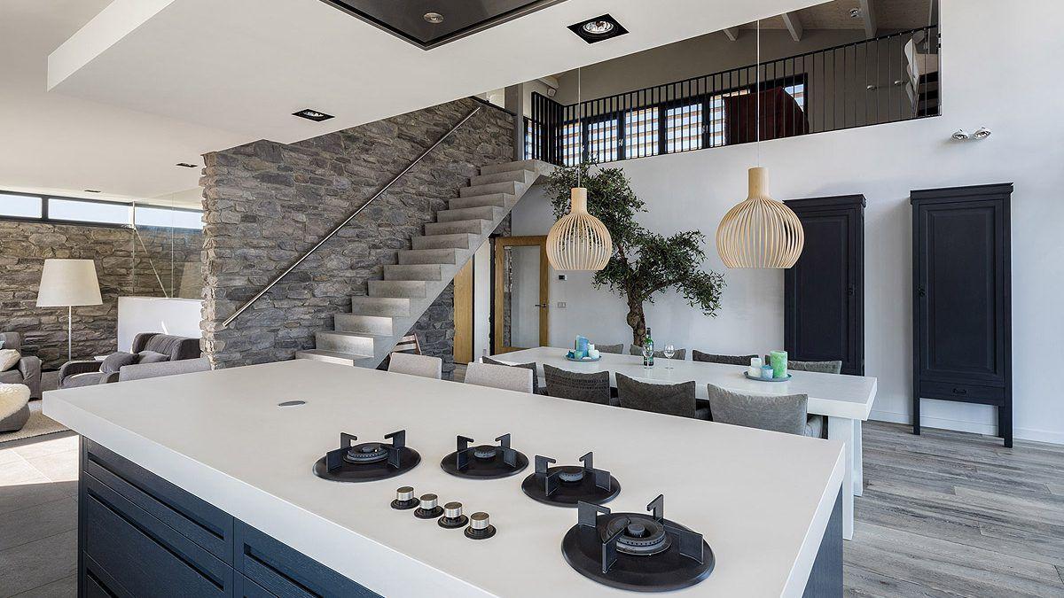 Interieur villa Bergen aan Zee. Ontwerp door BNLA Architecten.