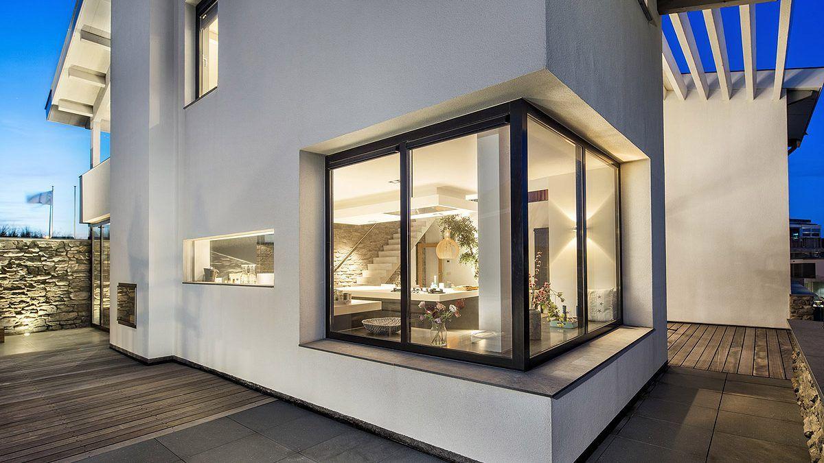 Ontwerp luxe villa. Aanzicht voorzijde. Ontwerp door BNLA Architecten.