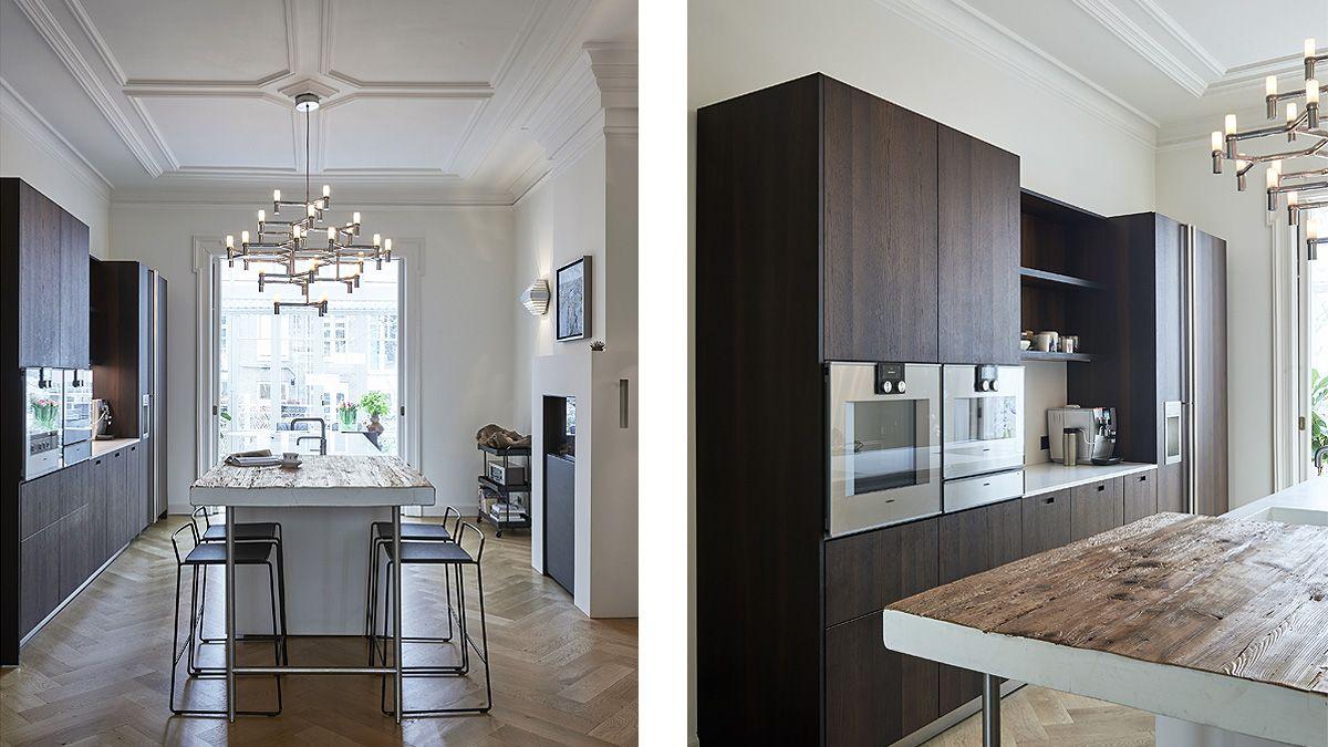 Luxe design keuken na verbouwing monumentalal pand door BNLA Architetcen.