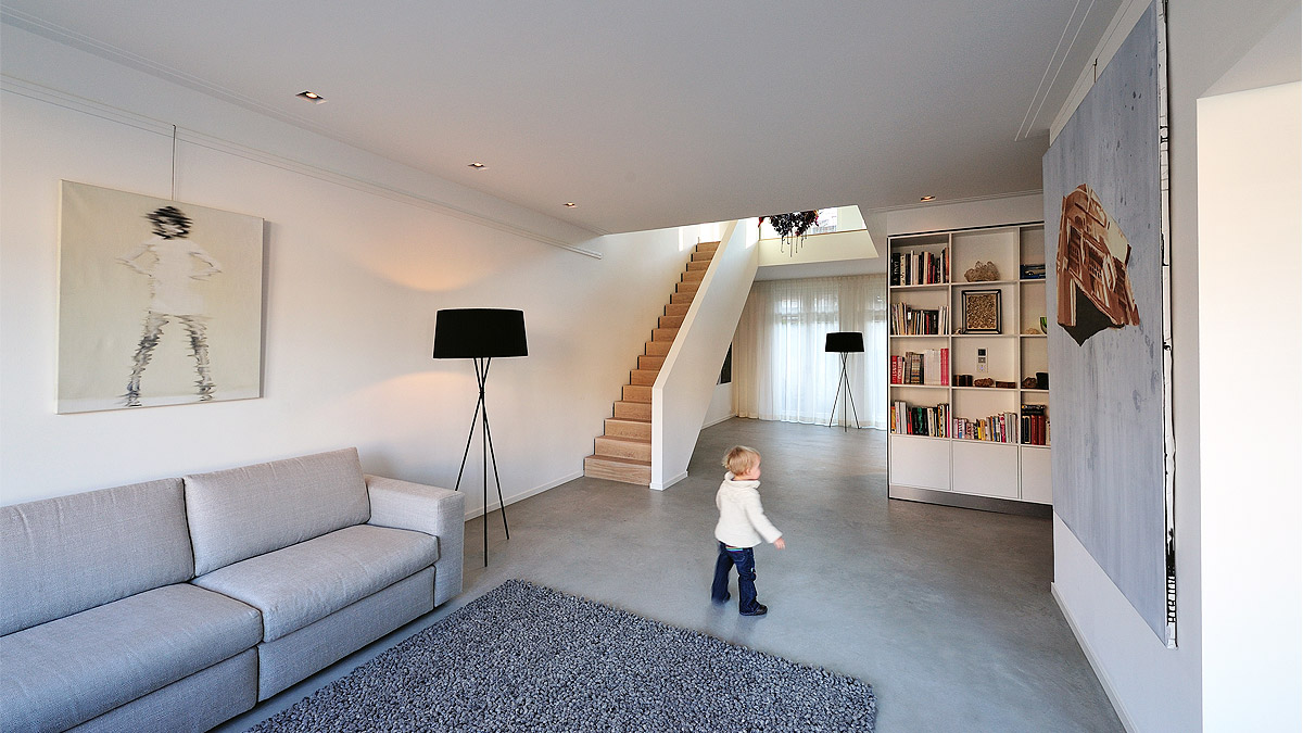 Woonkamer na verbouwing luxe woning Amsterdam - BNLA Architecten