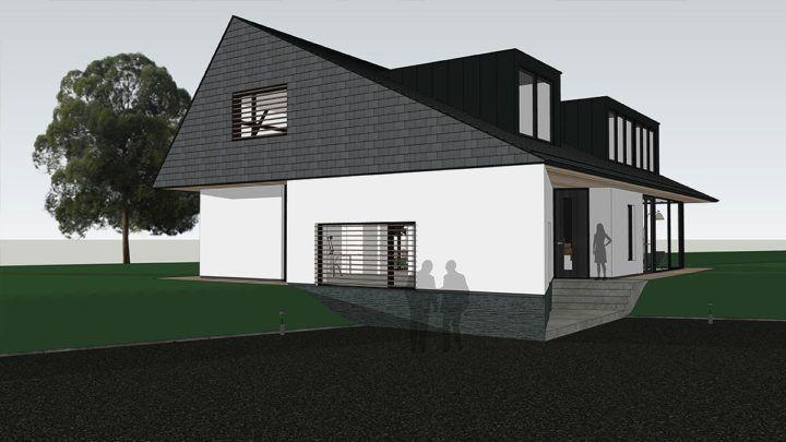 Op een uniek kavel aan de Vecht heeft BNLA een ontwerp gemaakt voor een vrijstaande villa. In het ontwerp van BNLA architecten wordt een woning voorgesteld die half in de dijk ligt en pracht uitzicht zal hebben over het water en de weilanden.