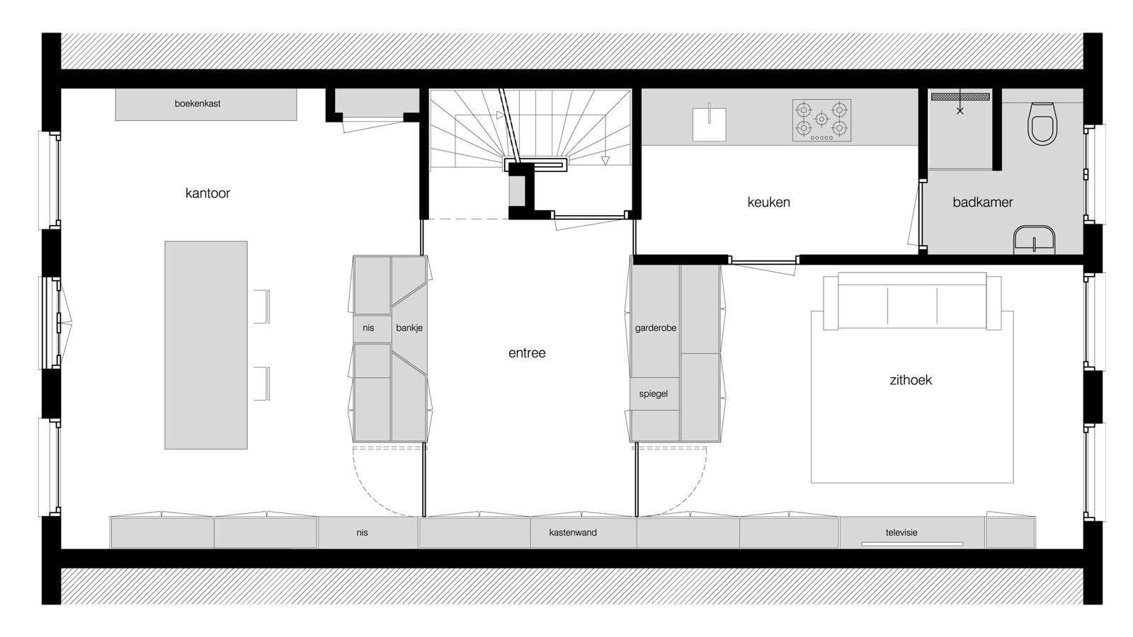 Ontwerp kantoor aan huis bnla for Ontwerp plattegrond