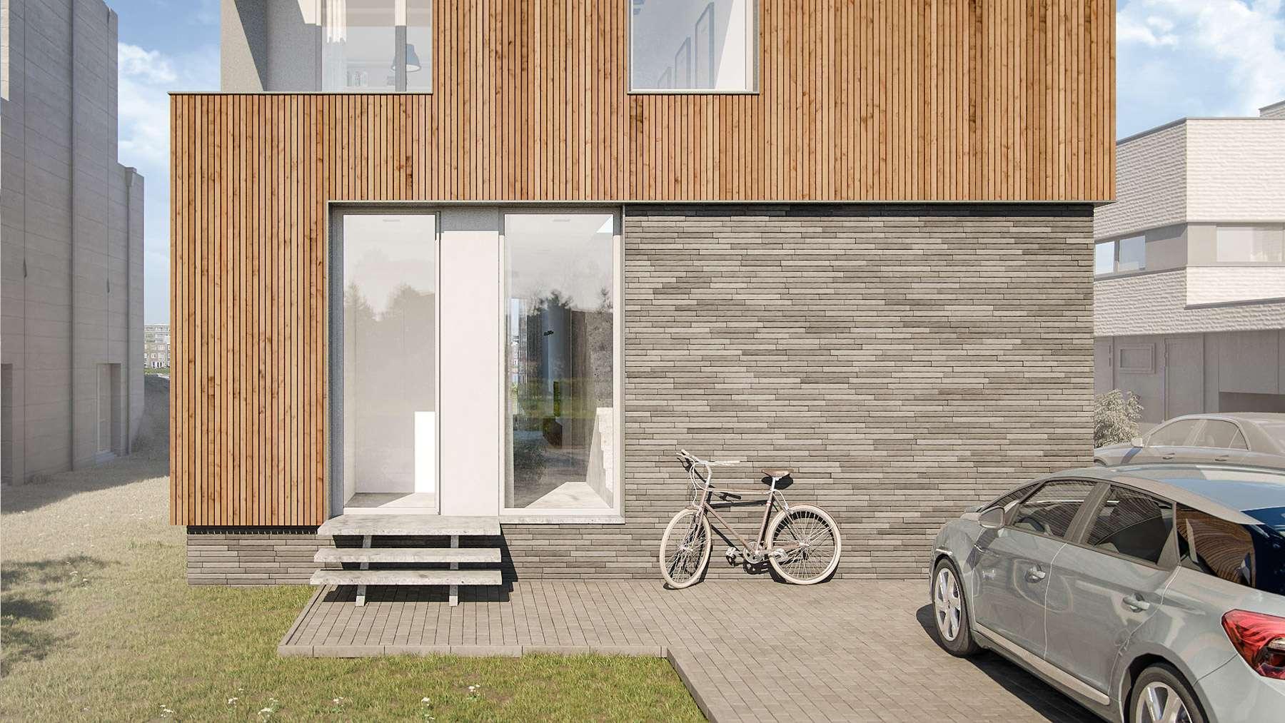 Ontwerp huis in IJburg door BNLA Architecten
