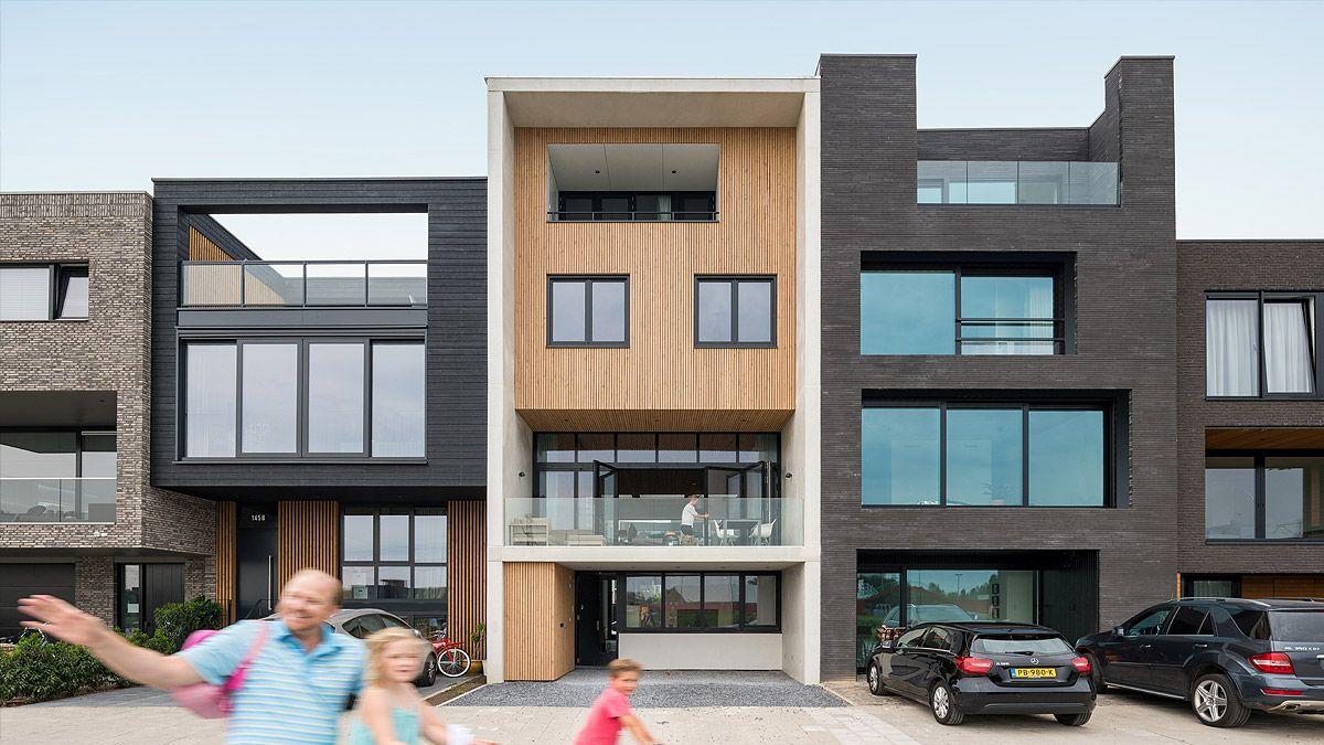 Moderne tussenwoning IJburg Amsterdam door BNLA Architecten
