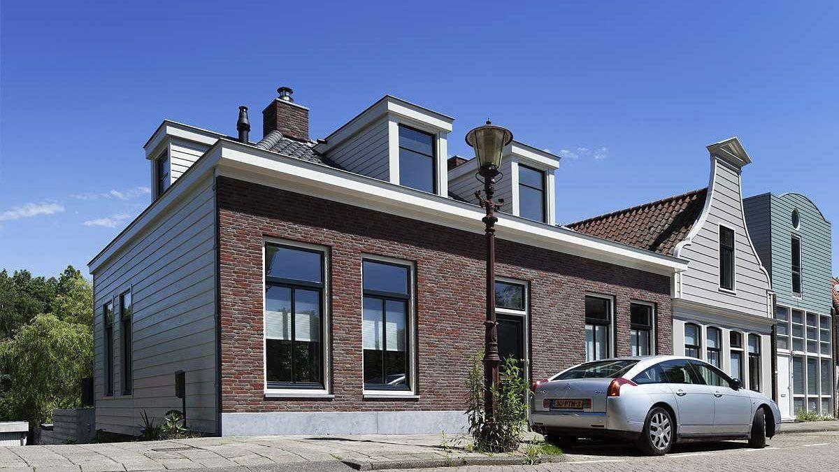 Voorgevel traditionele dijkwoning - BNLA Architecten