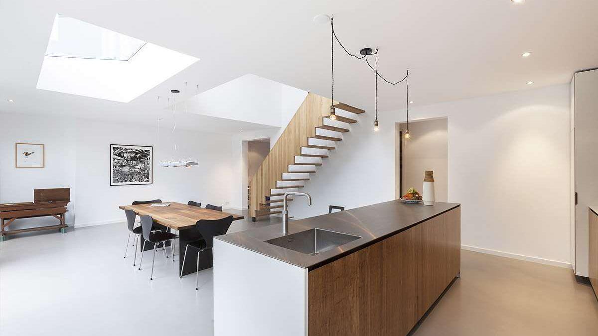 Interieur ontwerp dijkwoning door BNLA Architecten