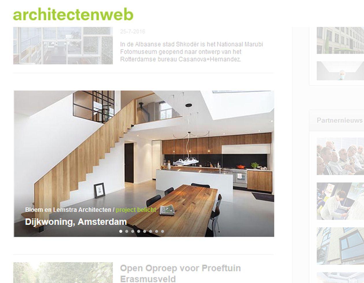 punblicatie dijkwoning project belicht architectenweb