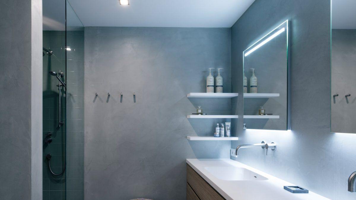 Beton ciré in moderne badkamer