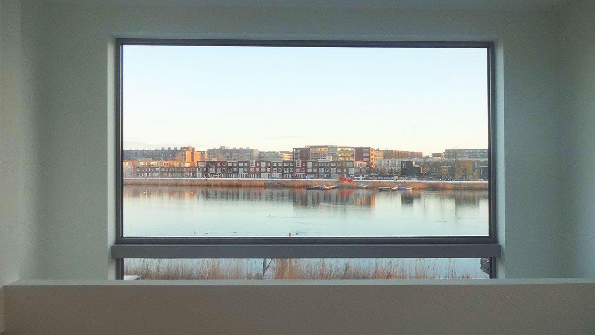 uitzicht op water IJburg
