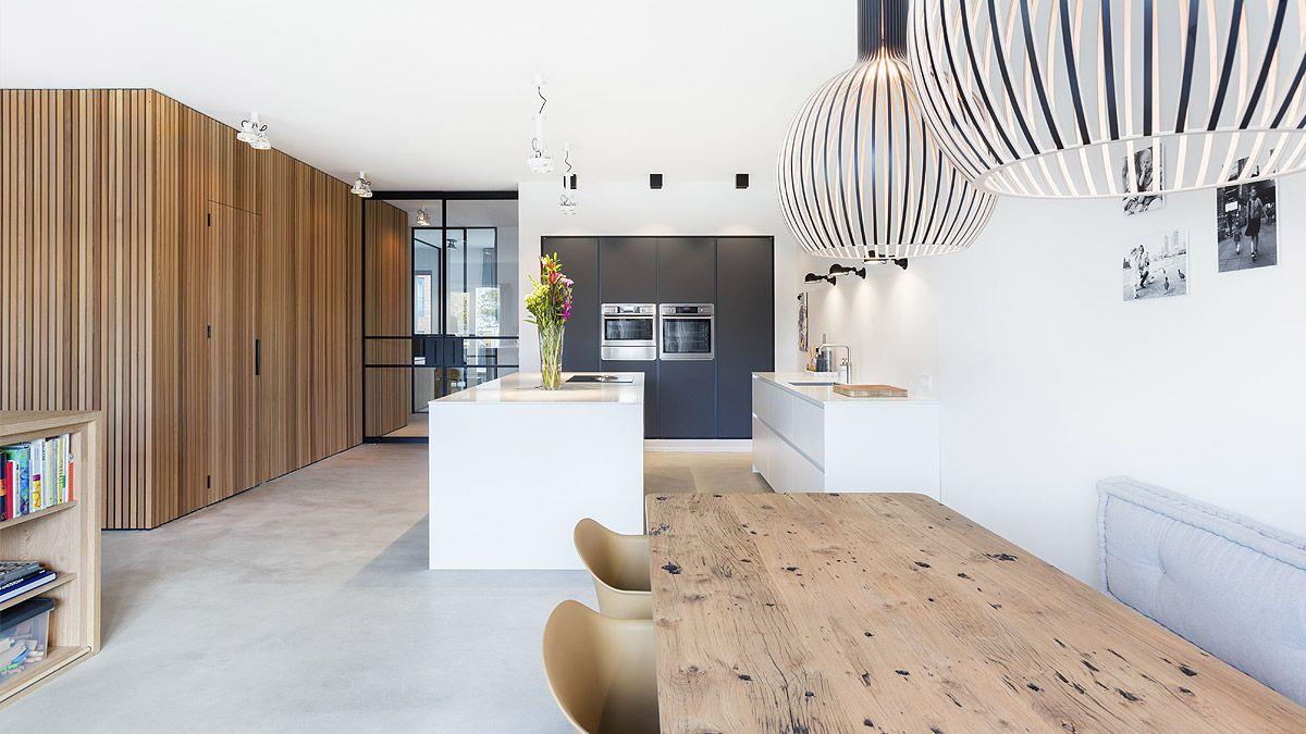 Ontwerp open living voor casco stadsappartement in Amsterdam