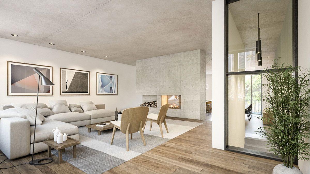 Interieur van duurzame villa ontworpen door BNLA Architecten.