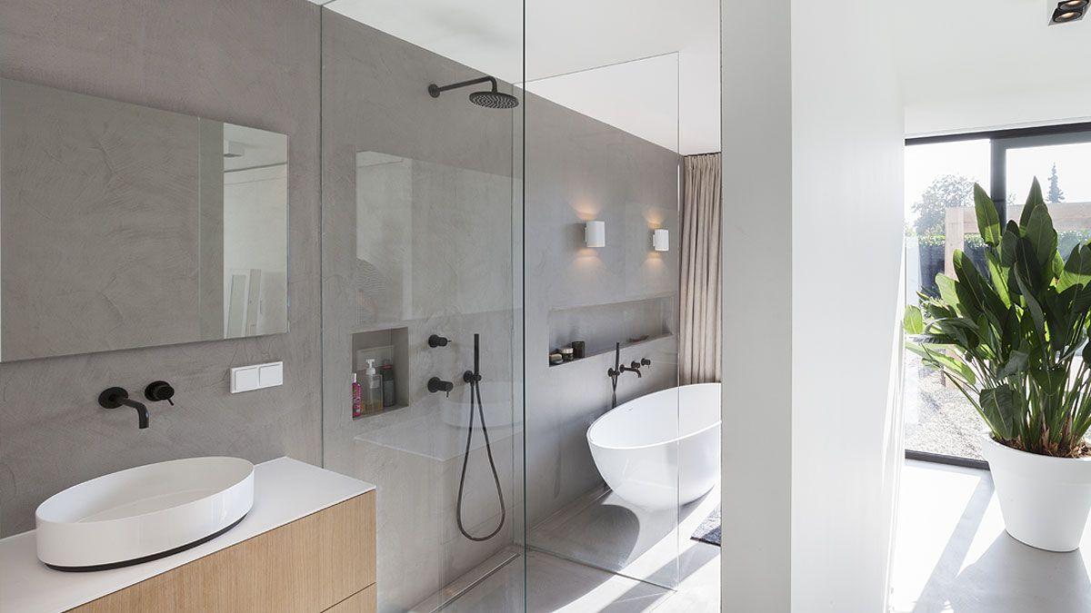 ontwerp strakke badkamer