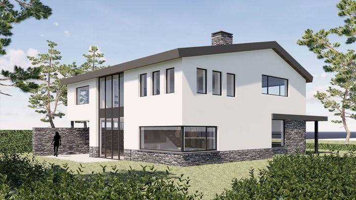 BNLA architecten werd gevraagd om een ontwerp te maken voor een droomhuis op één van de vrije kavels van Park 16Hoven. Het betreffende kavel grenst met zijn brede achtertuin aan het water en heeft een prachtig uitzicht op het groen aan de overkant.