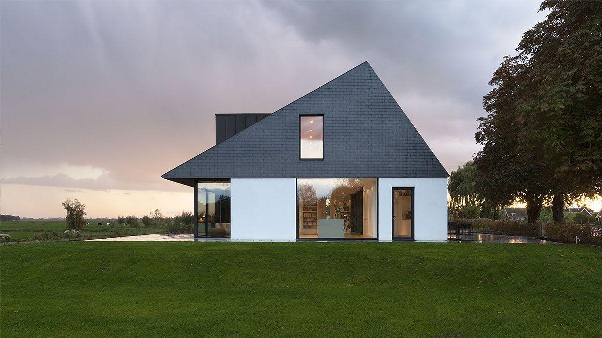 Ontwerp nieuwbouw villa door BNLA Architecten. Buitenaanzicht.