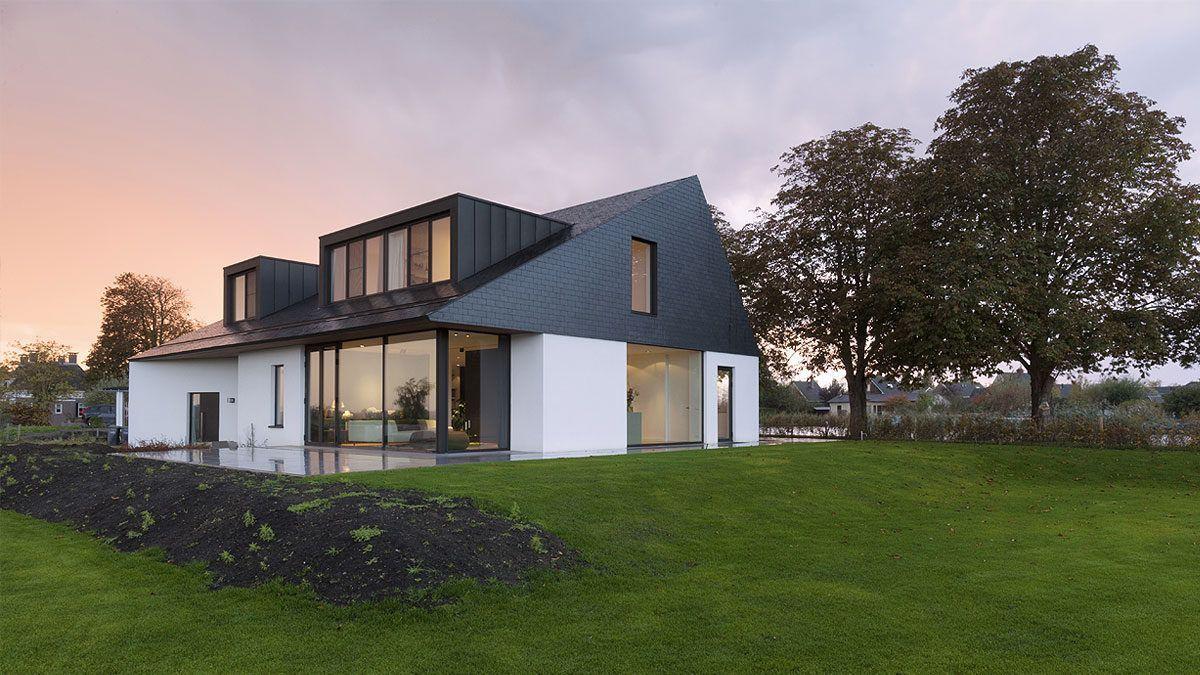 Ontwerp moderne villa Gooi en Vechstreek. Ontwerp door BNLA Architecten