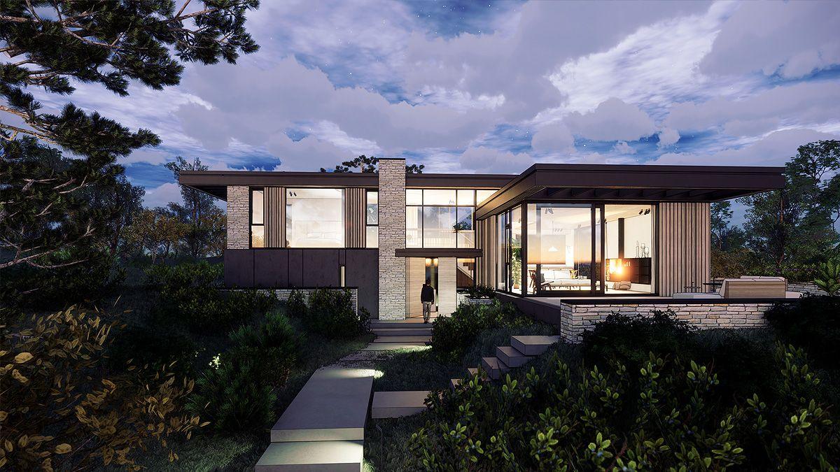 Ontwerp luxe villa in de duinen. Ontwerp: BNLA Architecten