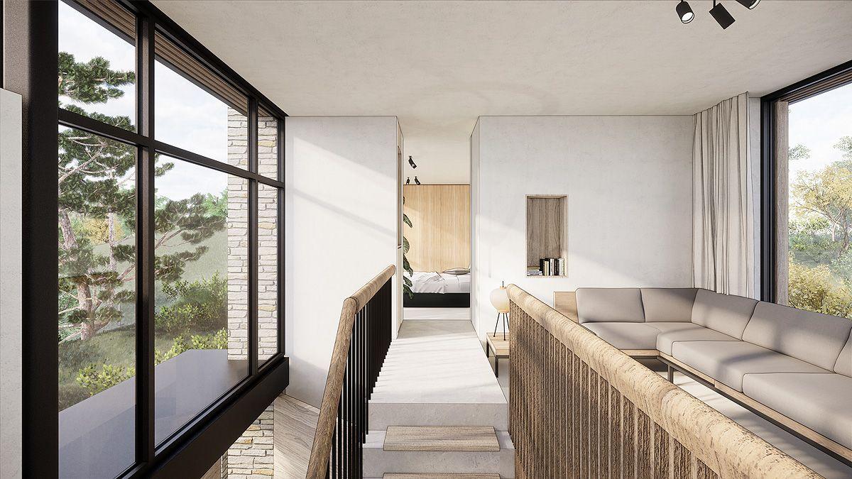 modern warm ontwerp villa