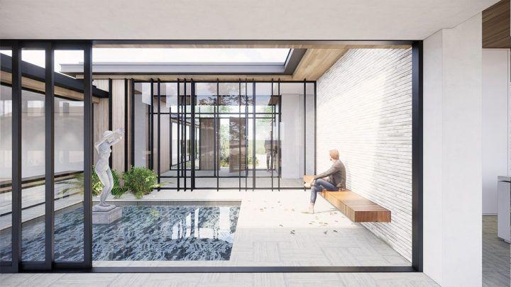 BNLA architecten heeft, gezamenlijk met de Nicemakers, de opdracht gekregen om een vrijstaand woonhuis te ontwerpen op het grootste kavel binnen 'De Krijgsman' in Muiden.