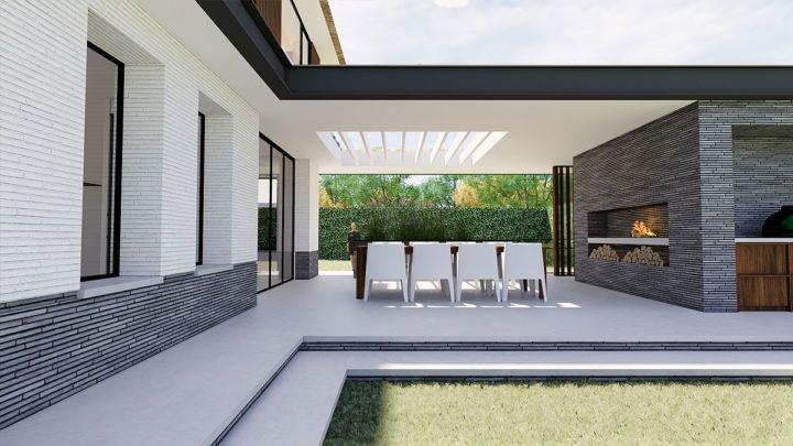 BNLA werd uitgedaagd om op een prachtig gelegen kavel in Heemstede een ruime nieuwe villa te ontwerpen. Door de grenzen op te zoeken is het gelukt om een ruim volume te creëren en het woonoppervlakte te maximaliseren.