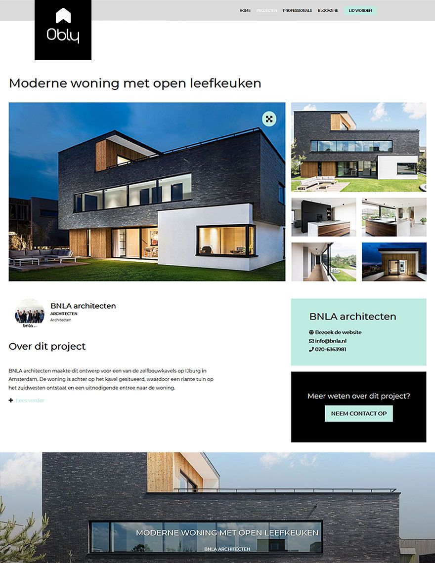 moderne woning met open leefkeuken
