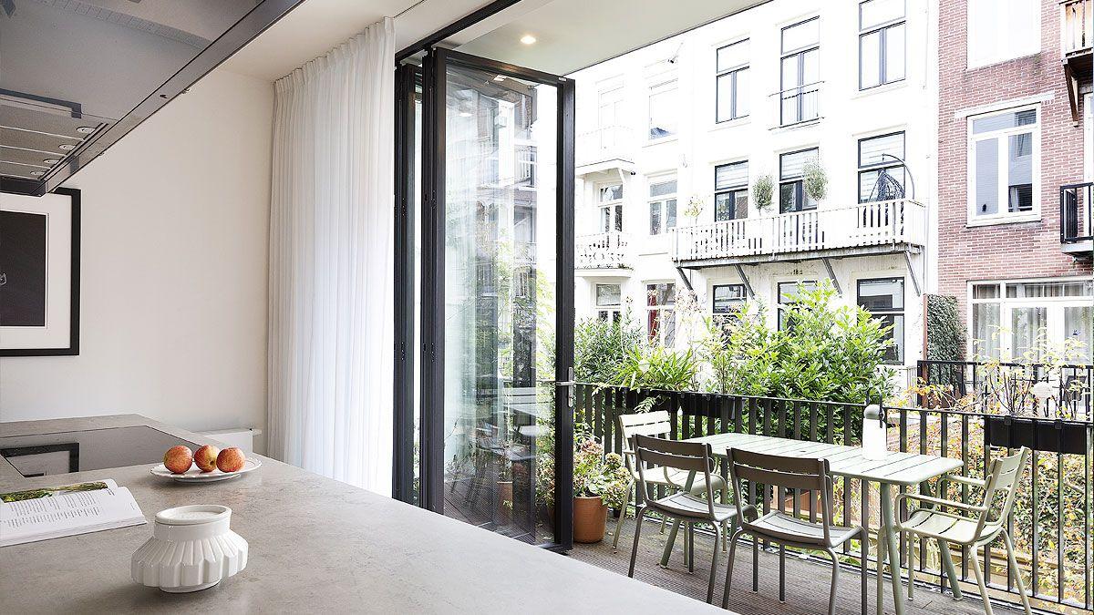 BNLA architecten - verbouwing herenhuis Amsterdam. Voorbeeld uitbouw