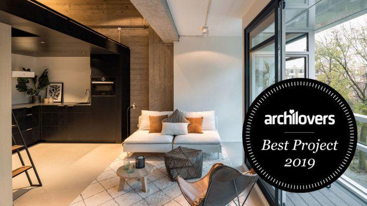 StartSmart Urban loft is genomineerd voor de 'Best Archilovers Project 2019'. BNLA maakte het ontwerp voor de herbestemming van kantoormantels tot high-end loft appartementen.