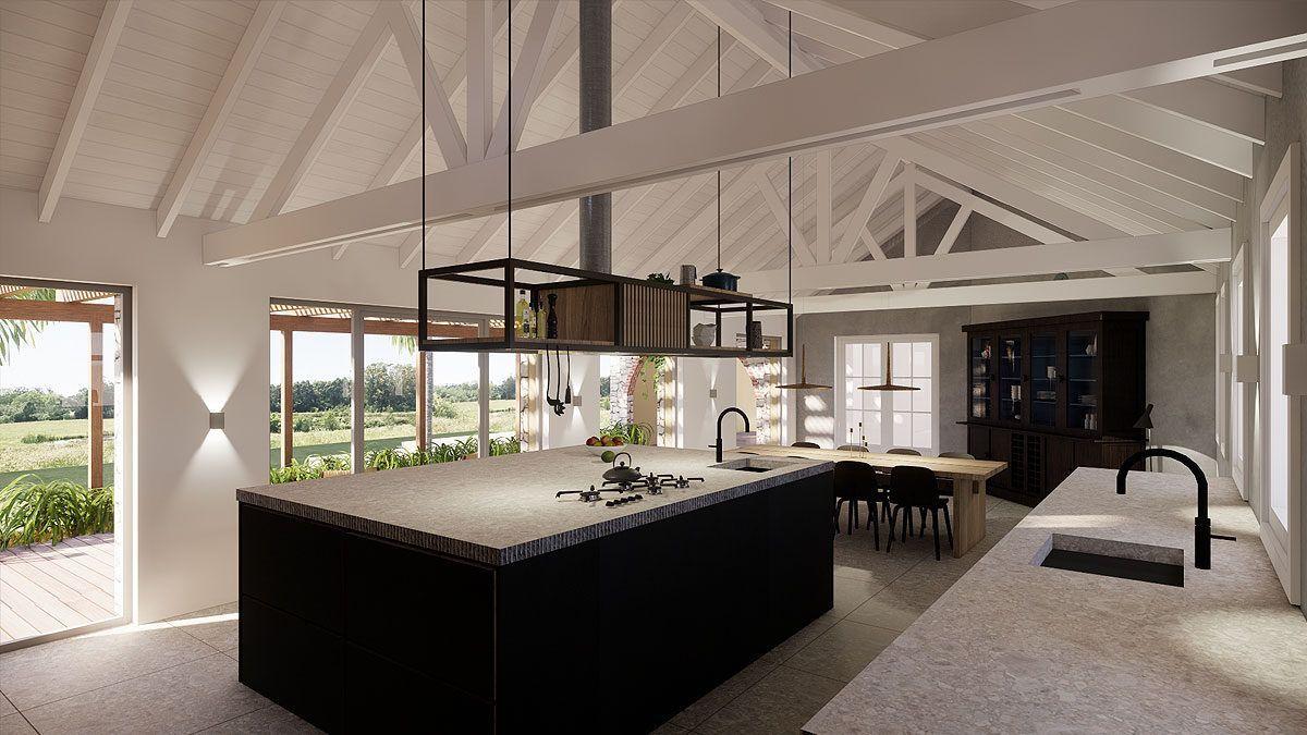 BNLA architectenontwerp architectuur luxe ruime keuken landelijk