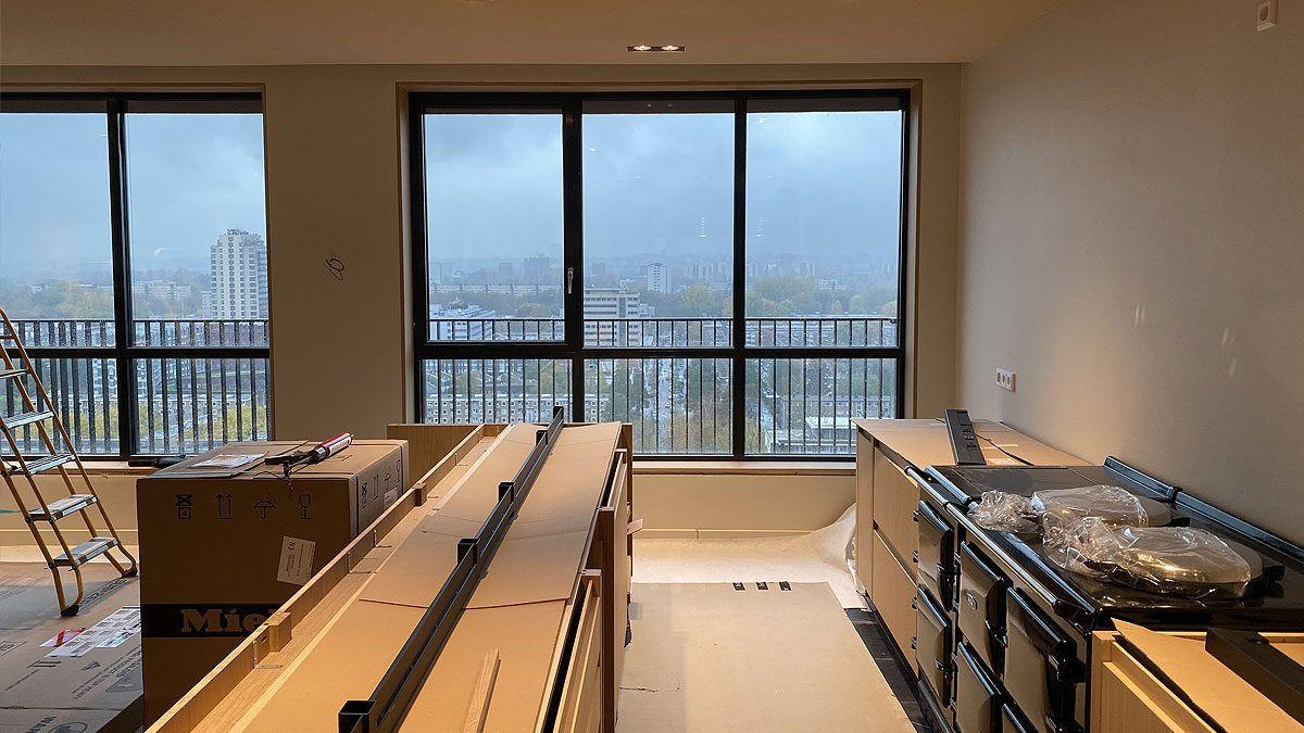 BNLA architecten afbouw casco appartement uitzicht Amsterdam