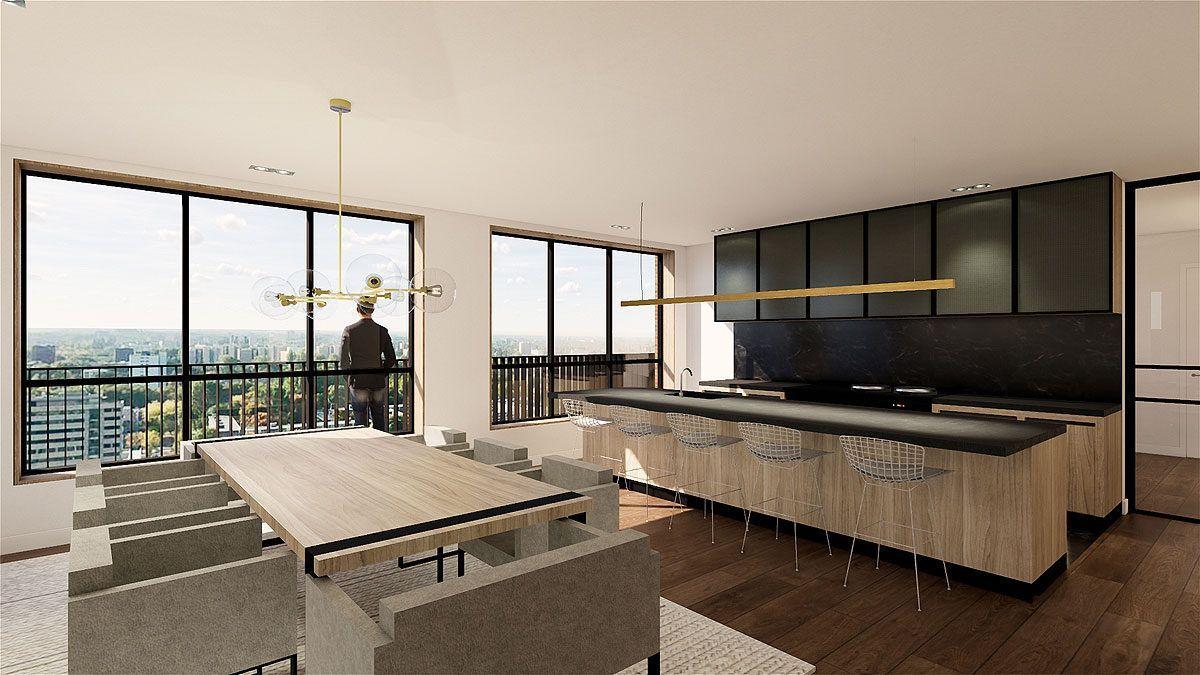 BNLA architecten ontwerp luxe keuken casco appartement