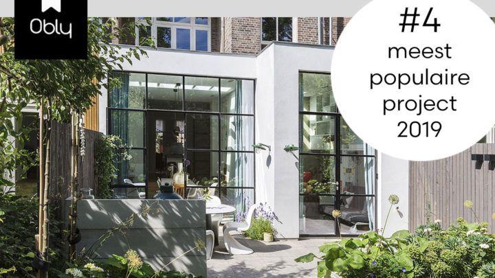 Architectuur & interieur platform Obly beloont de 'stijlvolle aanbouw' van BNLA architecten in de terugblik op 2019 met een vierde plek van de meest populaire projecten!!