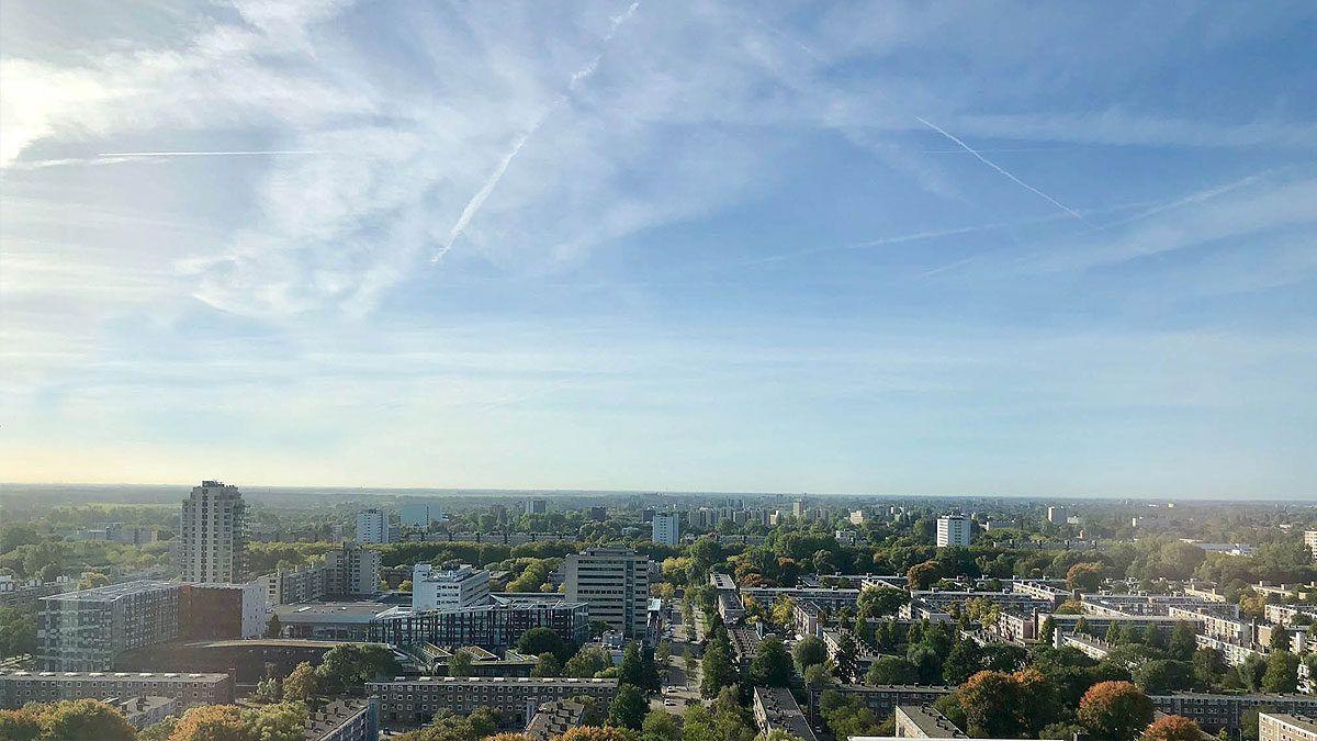BNLA architecten sky line Amsterdam luxe appartement