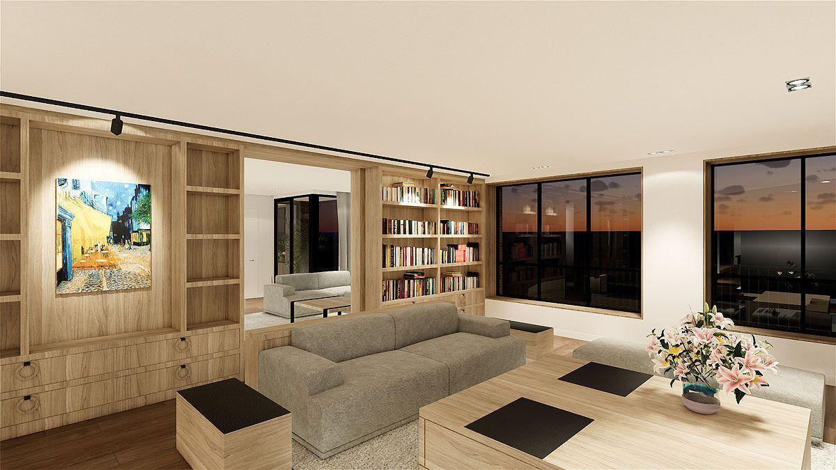 BNLA architecten Xavier toren interieur architectuur styling particulier