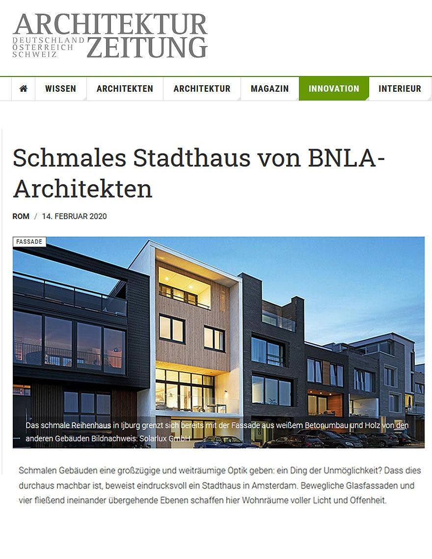 BNLA architecten publicatie woning Duitsland