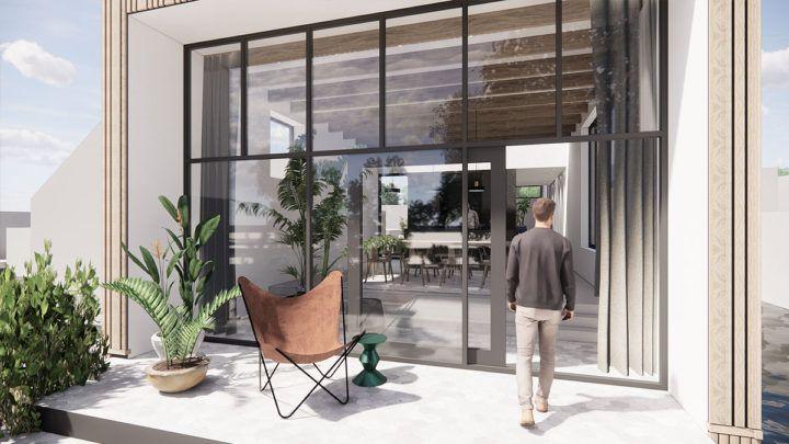 Het wonen in een woonark is uniek en het ontwerp van BNLA architecten speelt in op deze eigenschappen. Daarnaast zijn de wensen van de bewoners volledig geïntegreerd en het gewenste zicht op de bomen en de reflectie van het water zijn de essentie van de woning geworden.