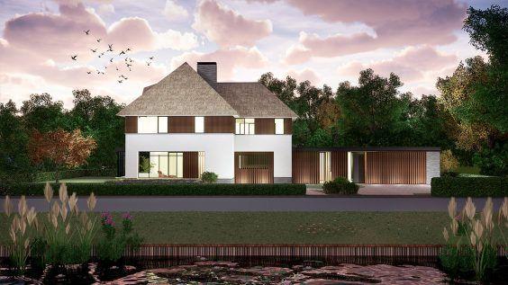 BNLA architecten nieuwbouw villa modern riet
